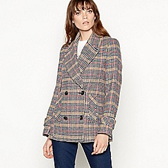The Collection - Multicoloured check print peacoat