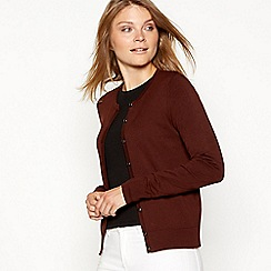 The Collection - Dark brown long sleeve cardigan