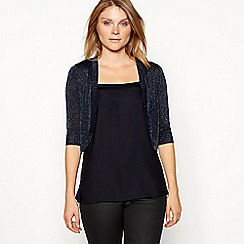 The Collection - Navy sparkle shrug