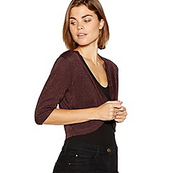 The Collection - Plum sparkle shrug