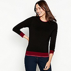 The Collection - Black zipped shoulder long sleeve jumper