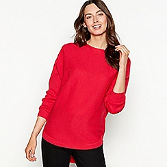 The Collection - Rose batwing ribbed knit long sleeve jumper