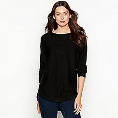 The Collection - Black batwing ribbed knit long sleeve jumper
