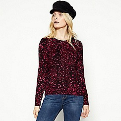 The Collection - Plum Leopard Print Jumper