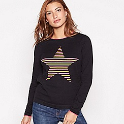 The Collection - Black stripe star placement jumper