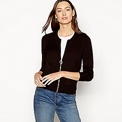 The Collection - Black zip through cardigan