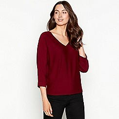 The Collection - Red batwing V-neck jumper