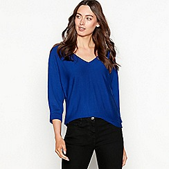 The Collection - Bright blue batwing V-neck jumper