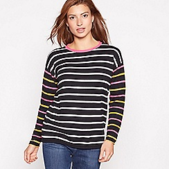 The Collection - Black contrast stripe jumper