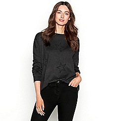 The Collection - Dark grey crystal star long sleeve jumper