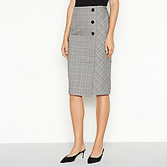 The Collection - Multicoloured check print midi suit skirt