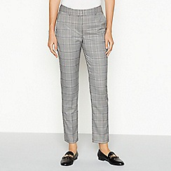 The Collection - Grey check slim leg trousers