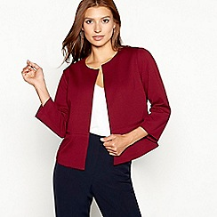 The Collection - Dark red textured boxy jacket