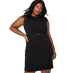 The Collection - Black knee length plus size suit dress