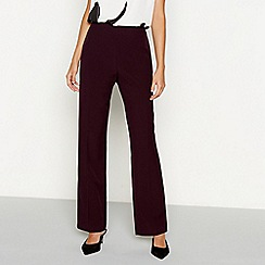 The Collection - Plum flat front trousers