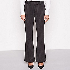 The Collection - Grey pinstripe kick flare suit trousers