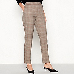 The Collection - Multicoloured check slim leg trousers
