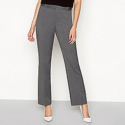 The Collection - Grey textured straight leg trousers