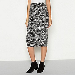 The Collection - Multicoloured leopard print knee length ponte skirt