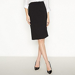 The Collection - Black knee length ponte pencil skirt