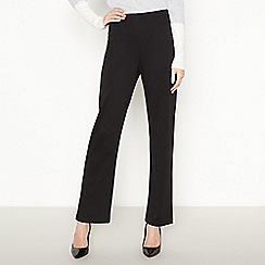 The Collection - Black straight leg ponte trousers