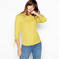 The Collection - Olive Textured Stripe Top