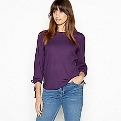 The Collection - Purple Textured Stripe Top