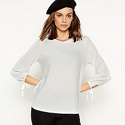 The Collection - Ivory textured stripe top
