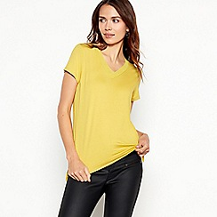 The Collection - Olive chiffon trim t-shirt