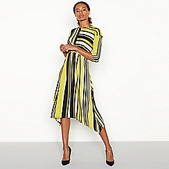 The Collection - Olive Stripe Print Twist Front Midi Dress