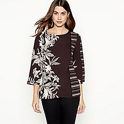The Collection - Black mixed print blouse