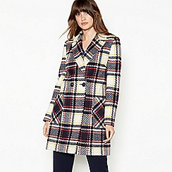 The Collection - Multicoloured Check Double Breasted Coat