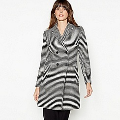 The Collection - Multicoloured Dogtooth Double Breasted Coat