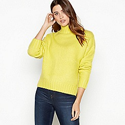 The Collection - Lime green relaxed fit roll neck jumper