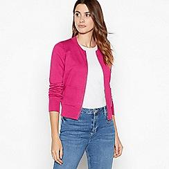 Principles - Dark pink zip front cardigan