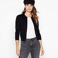Principles - Black zip front cardigan