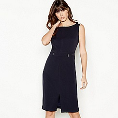 The Collection - Navy Knee Length Suit Dress