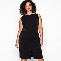 Principles Collection - Black Knee Length Plus Size Suit Dress