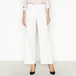 The Collection - Ivory Wide Leg Trousers