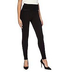 The Collection Petite - Black ponte petite leggings