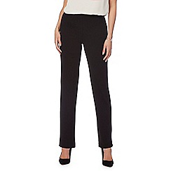 The Collection Petite - Black regular length ponte trousers