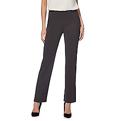 The Collection Petite - Grey regular length ponte trousers