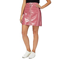 H! by Henry Holland - Pink patent mini skirt