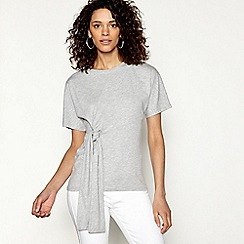 H! by Henry Holland - Grey tie front t-shirt