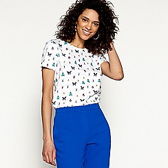 H! by Henry Holland - White cotton bug print t-shirt