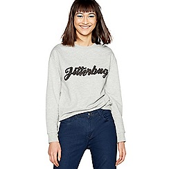 H! by Henry Holland - Grey jitterbug slogan sweatshirt