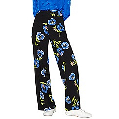 H! by Henry Holland - Blue floral print wide leg trousers