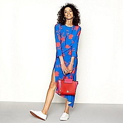 H! by Henry Holland - Blue floral print asymmetric dress