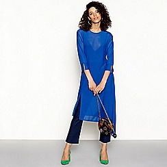 H! by Henry Holland - Blue mesh tunic top