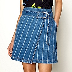 H! by Henry Holland - Light blue denim wrap skirt